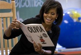 Michelle.Obama.reading.to.children