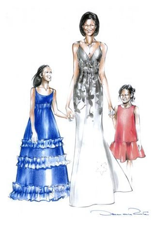 Michelle.Obama.SKETCH.Oscar.de.la.Renta