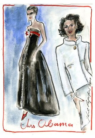 Michelle.Obama.SKETCH.Karl Lagerfeld (for Chanel)