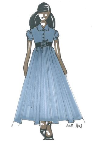 Michelle.Obama.SKETCH.Reem Acra sketch for Sasha and Malia Obama.