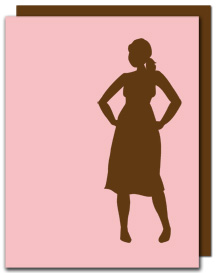 Silhouette.Card.Pinklovesbrown