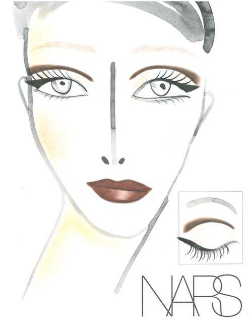 55.nyfw.NARS AW13 Carmen Marc Valvo face chart