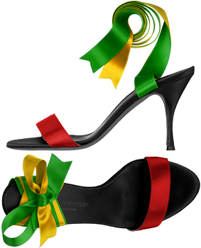 Darfur Ribbon Sandals by Hollywould