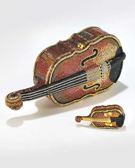 Violin Minaudiere & Pill Box by Judith Leiber