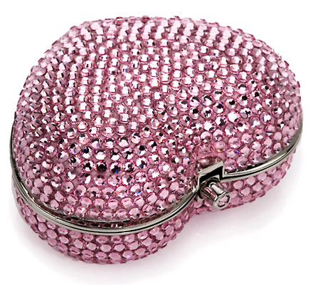 Austrian Crystal Heart Pillbox by Judith Leiber